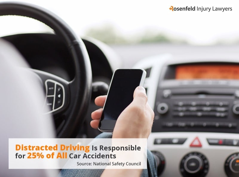 Chicago Distracted Driving Car Accident Attorney