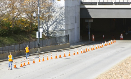 Worker injured in highway construction accident