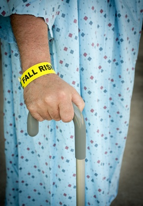 risk of patient falling in nursing home or hospital