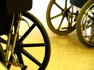 paralyzed patients in wheelchairs