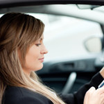 Answer cell phone while driving