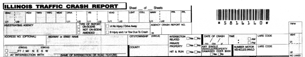 Illinois Traffic Crash Report 1