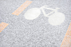 Cyclist and Snow Make a Dangerous Combination