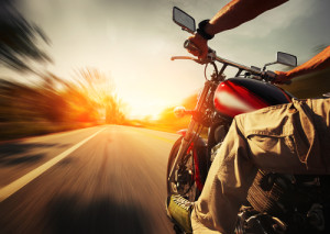 collide with motorcyclists