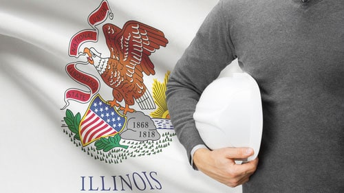 Illinois Working Holding Engineer Hard Hat