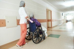 Elderly patients at risk for bed sores