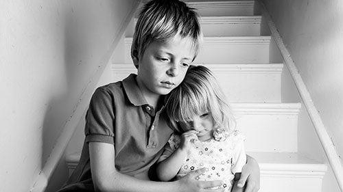Sad Siblings Foster Care