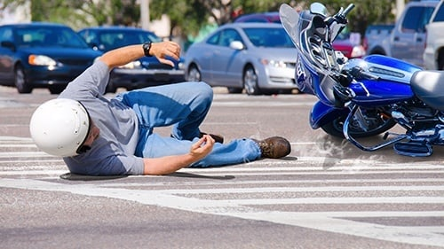 Motorcycle Road Rash Accident