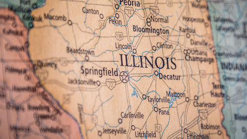Cities Represented In Illinois Cases