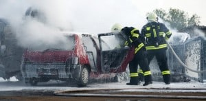 Burns in car accidents