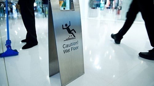 Wet Floor Fall Accidents