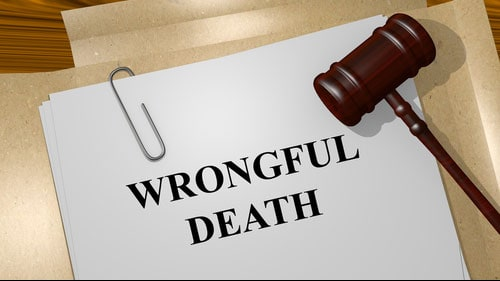 Paperwork Showing Wrongful Death Lawsuit